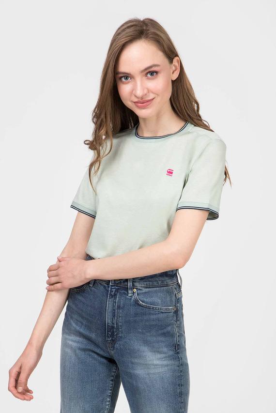 Женская мятная футболка Gyre ringer