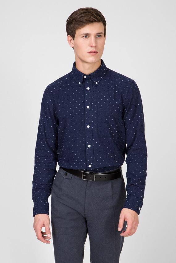 Мужская темно-синяя рубашка BUTTON DOWN FIL COUPE