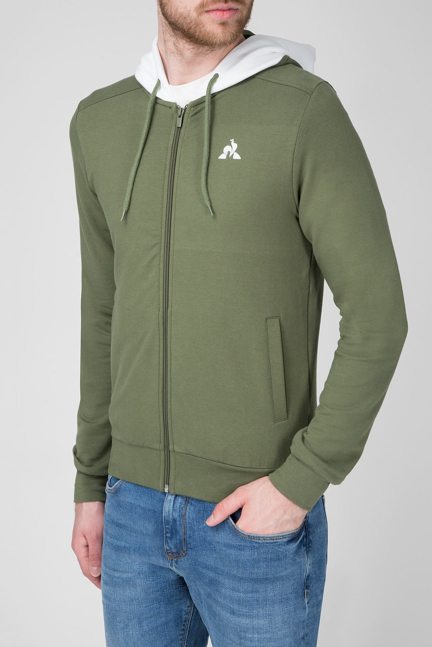 Мужское зеленое худи