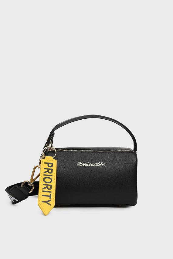Женская черная сумка через плечо PRIORITY