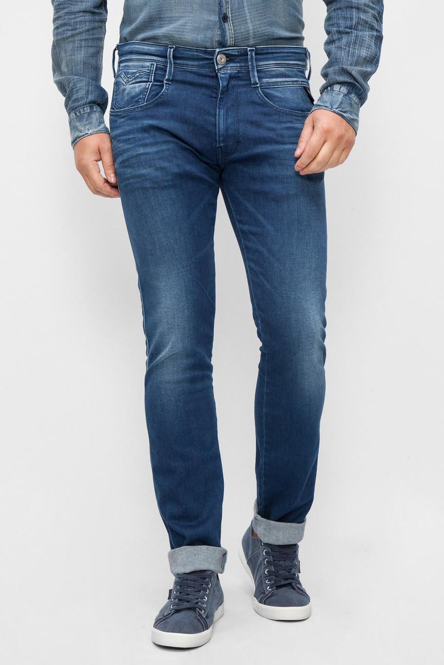 Мужские темно-синие джинсы ANBASS BACK ZIP