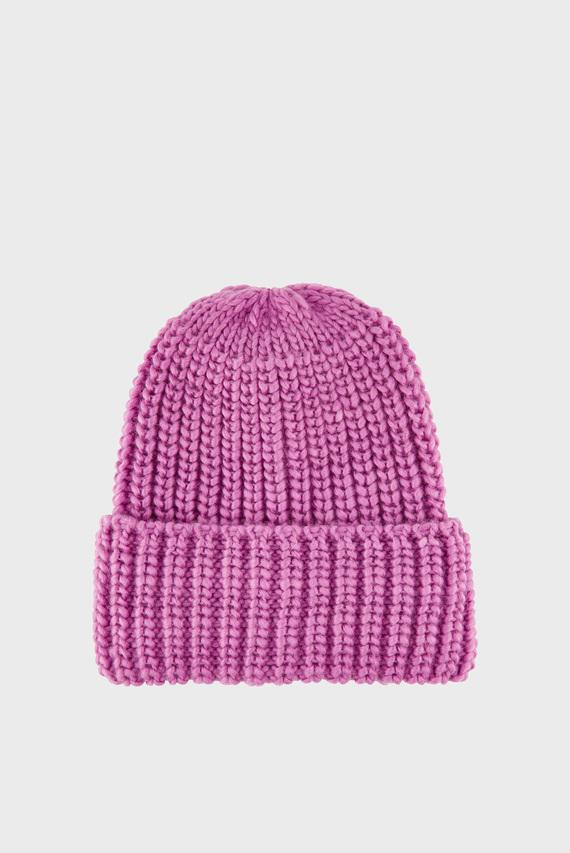 Женская розовая шапка BEA CHUNKY TURNUP BE