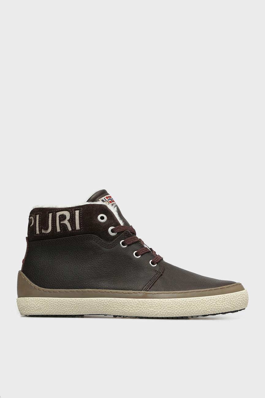 Мужские темно-коричневые кожаные ботинки JAKOB