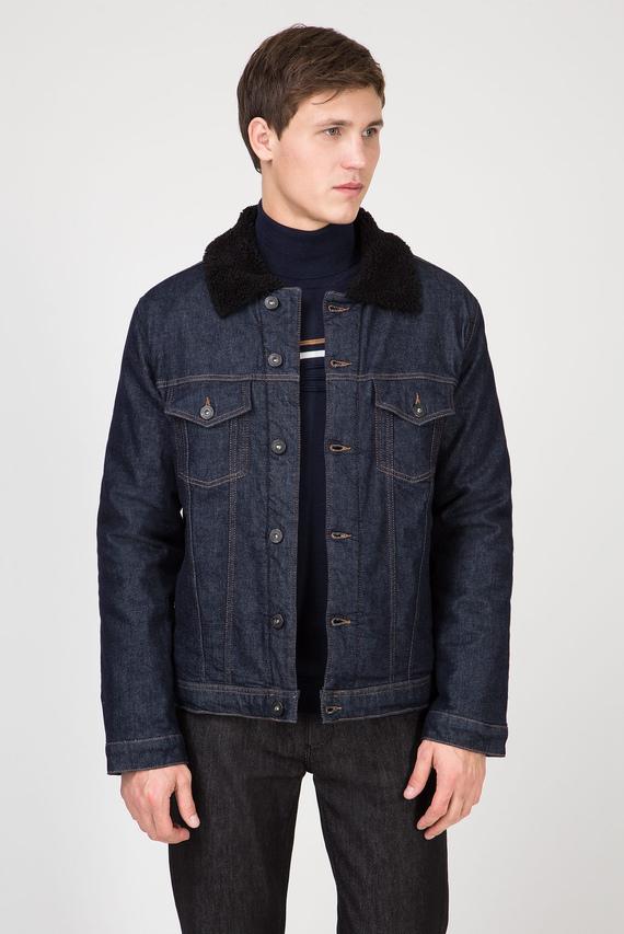 Мужская темно-синяя джинсовая куртка TRUCKER DENIM