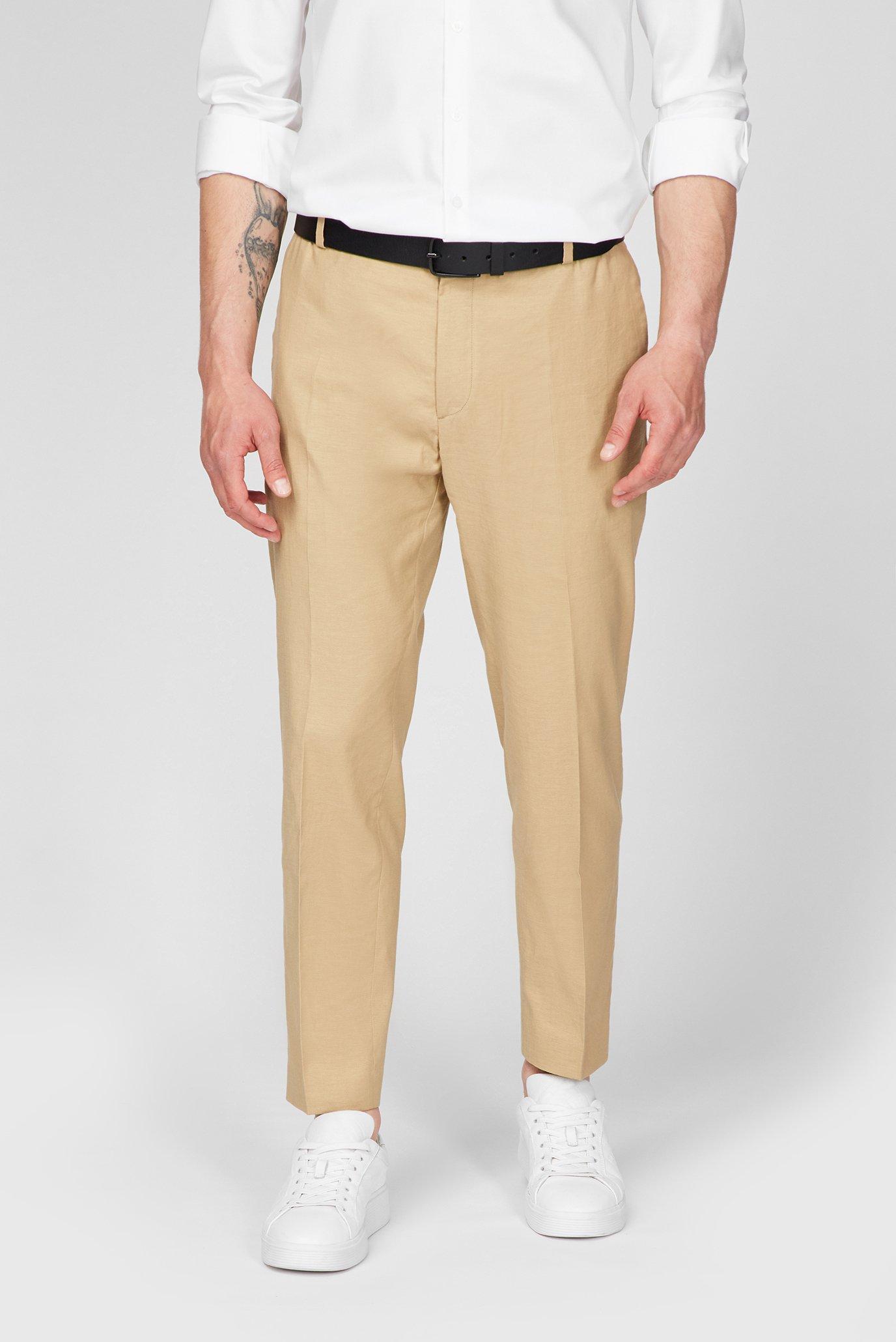 Мужские бежевые брюки 1