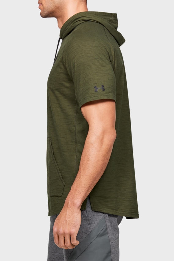 Мужская зеленая футболка Project Rock Charged Cotton SS