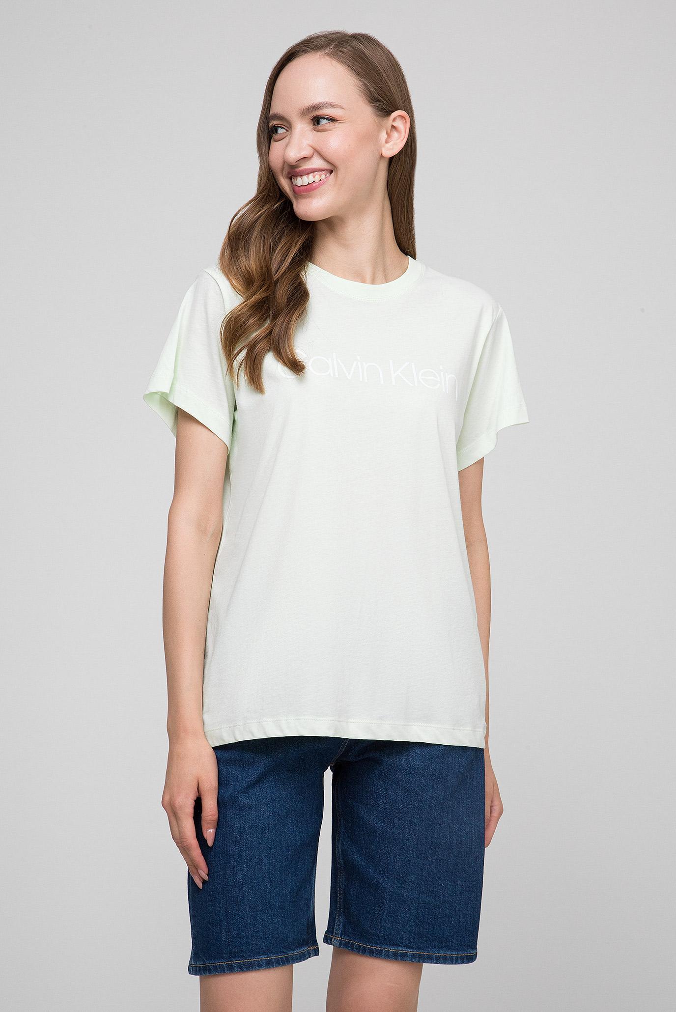 6d6c64da79b44 Купить Женская салатовая футболка LOGO PRT T-SHIRT SS Calvin Klein Calvin  Klein K20K200459 – Киев, Украина. Цены в интернет ...