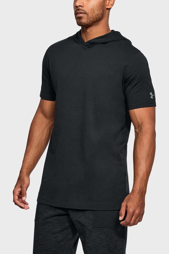 Мужская черная футболка UA Baseline Hooded