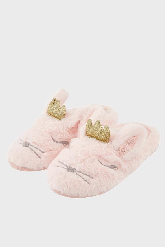 Детские розовые домашние тапочки BEATRICE BUNNYSLIDER