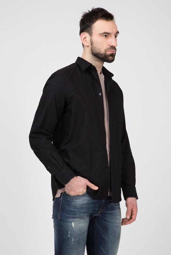 Мужская черная рубашка S-MOI-R