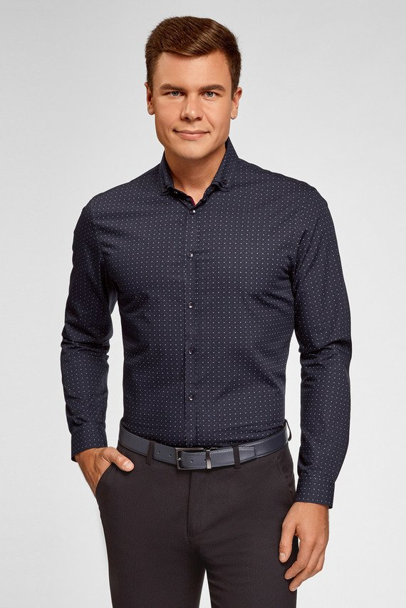 Мужская темно-синяя рубашка
