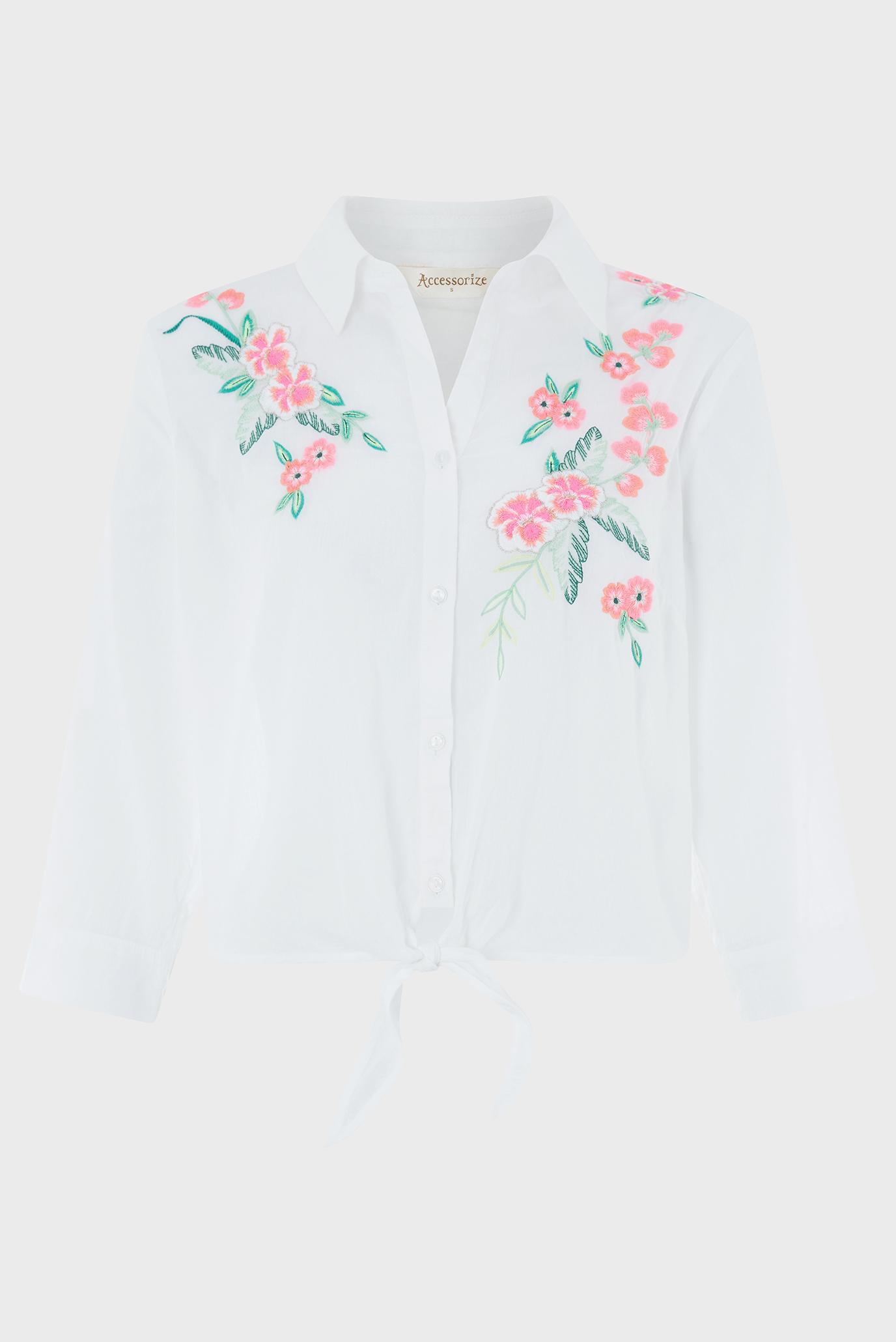 Купить Женская белая рубашка Accessorize Accessorize 497710 – Киев, Украина. Цены в интернет магазине MD Fashion