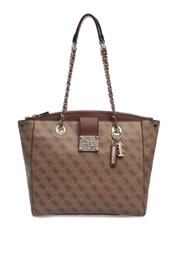 Женская светло-коричневая сумка на плечо