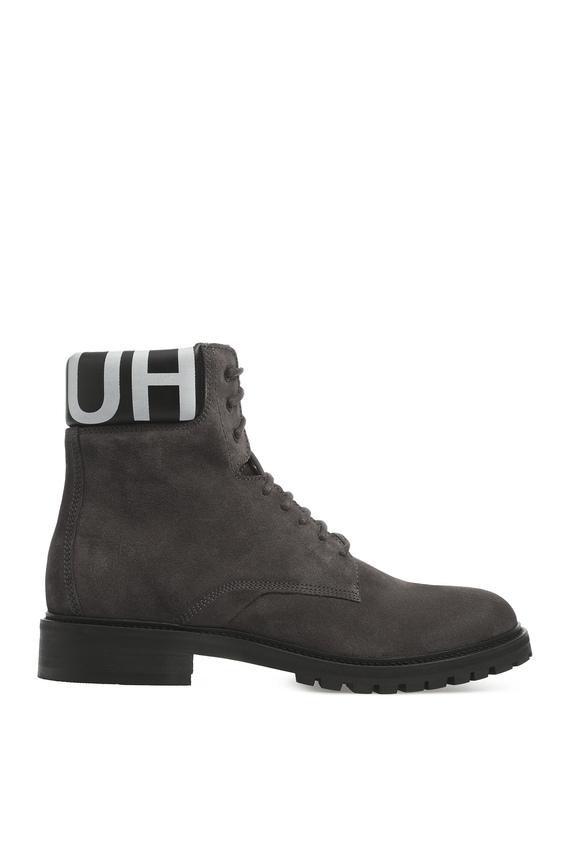 Мужские серые замшевые ботинки
