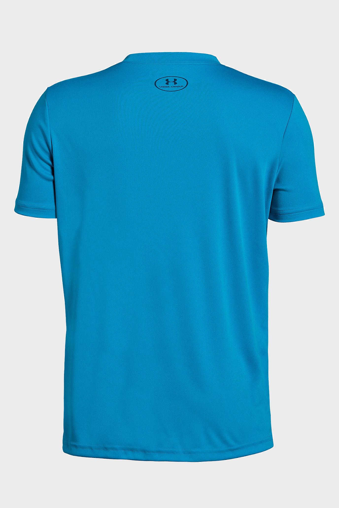 Купить Детская синяя футболка с принтом Stepped Wordmark SS Under Armour Under Armour 1330906-452 – Киев, Украина. Цены в интернет магазине MD Fashion