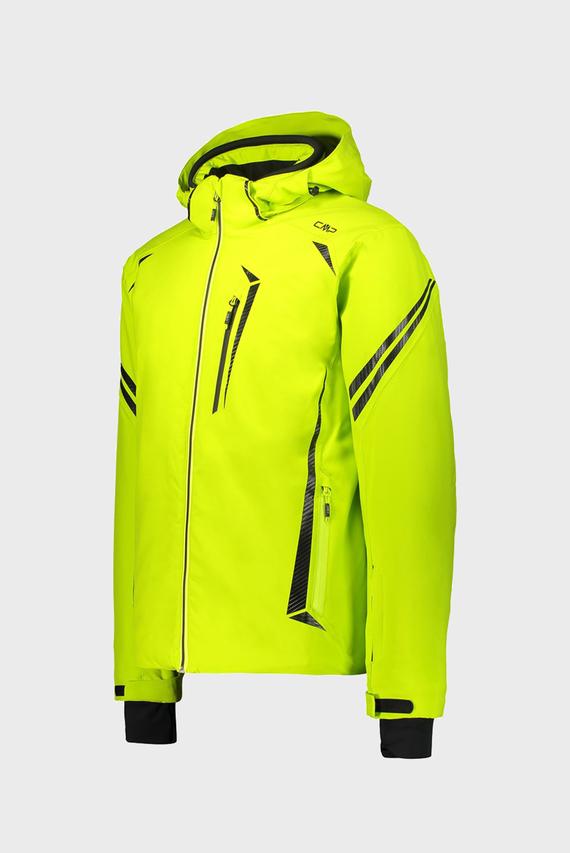 Мужская желтая лыжная куртка MAN JACKET ZIP HOOD