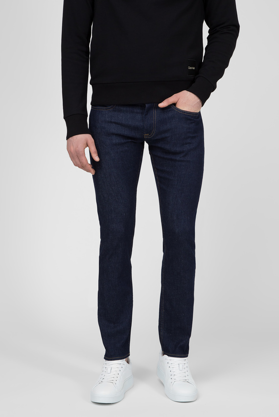 Мужские темно-синие джинсы SLIM FIT