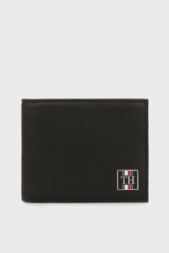 Мужской черный кожаный кошелек TH SOLID MINI
